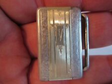 "HICKOK STERLING SILVER & 14K GOLD INLAY BELT BUCKLE - 16 GRAMS -  FITS 1"" BELT"