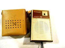 General Electric All Transistor Radio P-1758 W/Cover