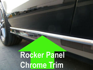 FOR CHEVY 2000-2006/2007-2012 ROCKER PANEL Body Side Molding CHROME Trim 2pc