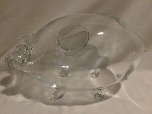 Clear Glass Pig Shaped Terrarium
