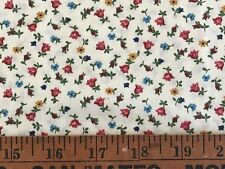 Cotton Quilt Fabric Floral Red Blue Green Bthy