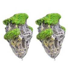 2x Aquarium Fish Tank Floating Rock Hängesteine Deko Ornamente