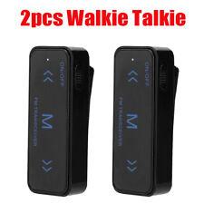 2pcs Mini Business Intercom 2 Way Radio With 1-3km Communication Distance