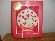 Lenox Christmas Wrappings Partridge Porcelain Ornament Annual 2015, Nib
