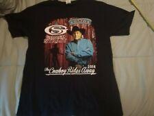 George Strait The Cowboy Rides Away 2014 Black T-shirt M