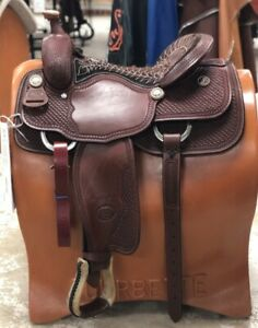 """Billy Cook 16"""" Original All Around Saddle Stitched Seat Model #6500 ~ NEW"""