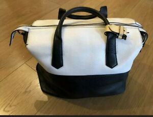 Reed Krakoff Black and White Leather Large Carryall Sac Duffle Style Bag