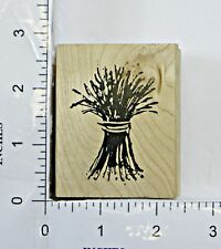 Wood Block Rubber Stamp: Dried Flowers