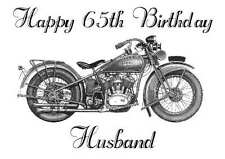 Harley Davidson, Personalised Hand Made Printed Card, any name, age, relation