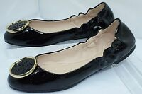 New Tory Burch Black Shoes Twiggie Ballet Flats Size 7 Leather Sale Gift