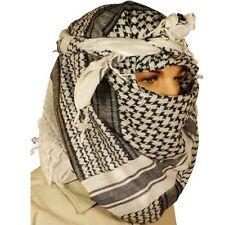 Para Hombre Blanco Negro Shemagh Bufanda Arabe Keffiyeh SF SAS Militar Abrigo cabeza algodón