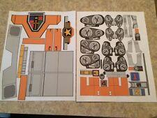 Orange Voltron Golion Shogun Warrior Jumbo Machinder Sticker Decals - VINYL