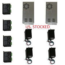 US Shipped 4 Axis CNC Kit 425oz.in Nema 23 Stepper Motor & KL-5042E Driver