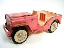 Vintage 1960's Tonka Pink Jeep Beach Surrey Pressed Steel Toy Truck Parts