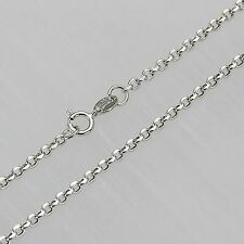 Best Pure AU750 18K White Gold Cable Women Chain Link Necklace /15.7 ''/1.8-2.1g