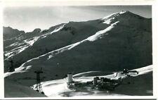 1949 Colle Del Sestriere Torino Vista Monti Innevati Neve Funivia FP B/N VG ANIM