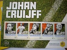 NEW SET OF 5 JOHAN CRUIJFF STAMPS HOLLAND AJAX SPECIAL ISSUE TIMBRES BRIEFMARKEN