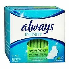 Always Infinity Pads With Wings for Women Heavy Flow Absorbency 16 Count