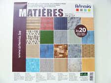 Carnet 30x30cm 40 feuilles Thème MATIERES Artemio DIY scrapbooking papeterie