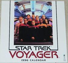 Star Trek Voyager Tv Series 1996 Wall Calendar, Opened Near Mint