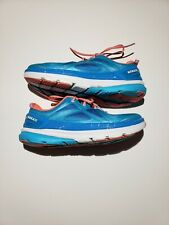 HOKA ONE ONE Constant Women's Blue Atoll/Neon Coral Running Shoes 9