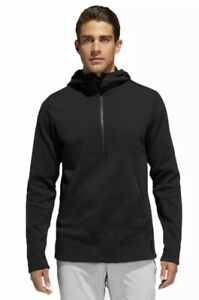 ADIDAS GOLF JACKET - ADICROSS PRIMEKNIT HOODIE - BLACK LARGE RRP £129.