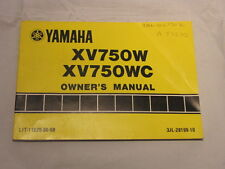 YAMAHA XV750W  XV750WC XV750 VIRAGO OWNER MANUAL 1987