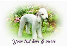 PERSONALISED BEDLINGTON TERRIER BIRTHDAY ANY OCCASION CARD  Illustrated Inside