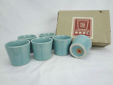 Taylor & Ng Tea Cup Straight Celadon Light Blue (Set Of Six 6) (Never Used)