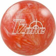 16 Pound Brunswick TZone Orange Plastic Bowling Ball