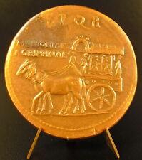 Médaille Sesterce Rome c40 Agrippina Mater carpentum funéraire roman mint medal