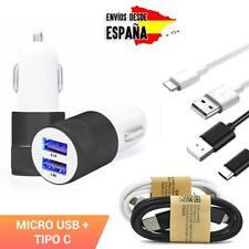 Cargador de movil para mechero coche Carga rapida USB adaptador micro / tipo C