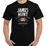 JAMES HUNT T-SHIRT, Mens F1 Top Mclaren Racing Driver Formula One Motorsport Tee