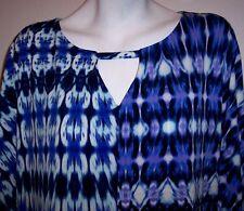 Maggy London Dress 14 Boho Ikat Print Stretch Jersey Knit Shift Women's Size 14