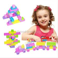 46 colorful Plastic Building Blocks Bricks Children Kids Toy Puzzle Educational