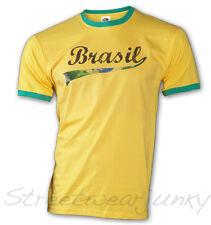★WM Fussball T-shirt Retro Trikot Brasil Championship Brasilien Soccer S-XXL★