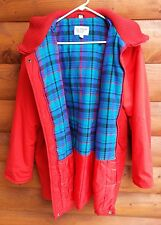 Plaid Flannel Lined Red Riding Hood Jacket Hooded Coat Windsor Bay Large