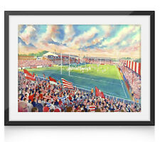More details for central park stadium fine art a4 framed print - wigan rugby league