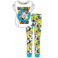 nwot Looney Tunes Tweety Bird Bright Pink Flowers Retro Pajama Lounge Pants L