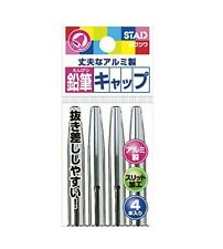 Kutsuwa STAD Wood Lead Pencil Cap Metal ( Total 4 Caps )