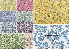 500 Meter Wholesale Cotton Block Print Fabric Sewing Crafts Dressmaking Bohemian