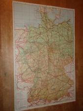 New Listing1937 Map Germany Hamburg Munich Stuttgart Nurnberg