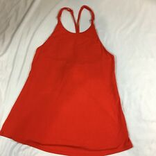 Naked zebra womens Sleeveless top Lace Up Back Red Medium new With Tags (AB12)