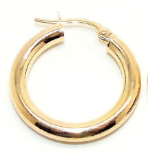MENS SINGLE 9CT HALLMARKED YELLOW GOLD 21MM PLAIN POLISHED HOOP EARRING