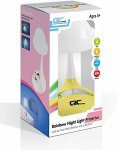 GICZONE Rainbow Night Light Projector Tabletop LED Lamp for Kids Bedroom