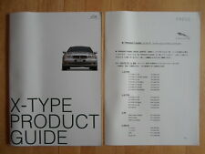 JAGUAR X TYPE orig 2003 Japanese Mkt Product Guide Brochure + Price List