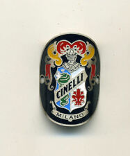 Cinelli Milano Bicycles Metal Handlebar Stem Badge - Silver Type