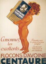 Original Plakat - Centaure - Flocons d'avoine, Peikert Martin