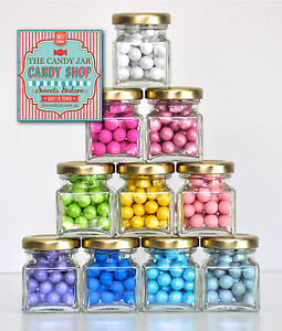 30 x GLASS CANDY BUFFET BOMBONIERE BABY SHOWER CHRISTENING FAVOUR LOLLY JAR