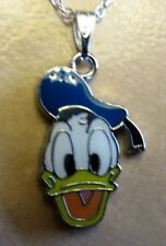 "18""  925 Sterling Silver Chain Donald the Duck Pendant Necklace Mickey Cartoon"